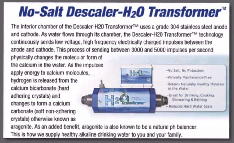 NO-SALT DESCALER-H2O TRANSFORMER™